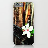iPhone & iPod Case featuring Old wood and a flower. by John Martino