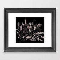 New York Black and White Framed Art Print