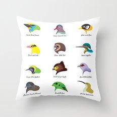 Montane Birds Series 2 Throw Pillow
