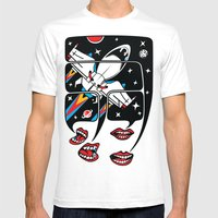 Let's talk about spaceships Mens Fitted Tee White SMALL