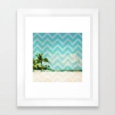 Chevron Beach Dreams Framed Art Print