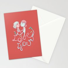 intertwined love Stationery Cards