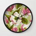 magnolia bloom - daytime version Wall Clock