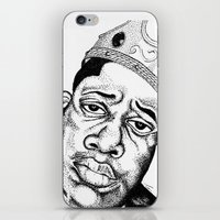 Biggie Smalls Stippling iPhone & iPod Skin