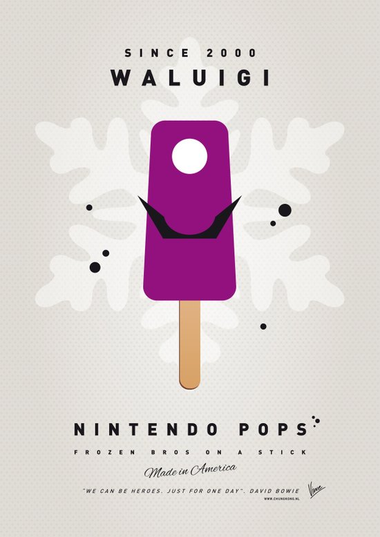 My NINTENDO ICE POP - Waluigi Canvas Print