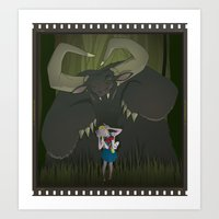 Monster Girl In Horrorco… Art Print