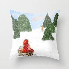 Joy to the World Christmas Card Throw Pillow