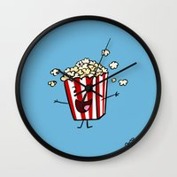 Buttered Popcorn Wall Clock