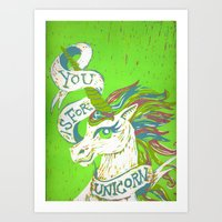 You Is For Unicorn Art Print