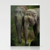 elephants Stationery Cards featuring Elephants  by Guna Andersone & Mario Raats - G&M Studi