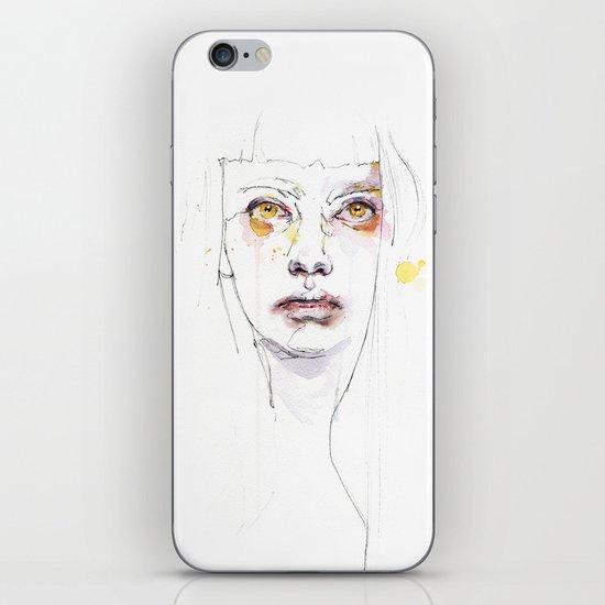 Golden eyes girl iPhone & iPod Skin