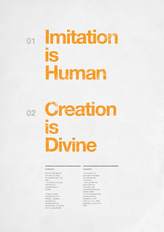 imitation & creation Canvas Print