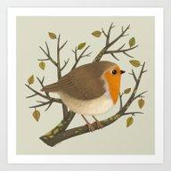 A Robin Art Print