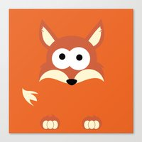 Minimal Fox Canvas Print