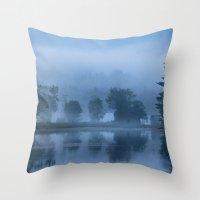 Peaceful Blue Throw Pillow