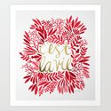 That's Life – Gold & Red Art Print