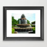 Charleston Pineapple Framed Art Print