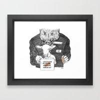 Radical Biquet Framed Art Print