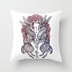Rare Hearts Throw Pillow