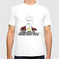 Crazy Pills Mens Fitted Tee White SMALL