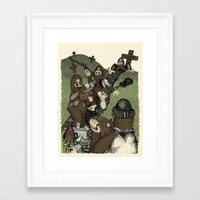 Night of the Living Squatch Framed Art Print