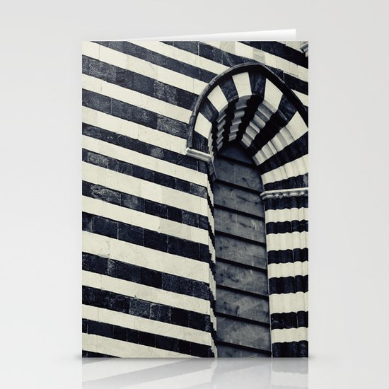 Striped Stationery Card