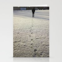 Trace in Snow Stationery Cards