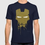 Iron Dirty Man Mens Fitted Tee Navy SMALL