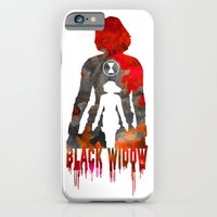 Black Widow Print iPhone 6 Slim Case