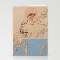 Myshkin Sparrow Stationery Cards