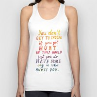If You Get Hurt Poster Unisex Tank Top