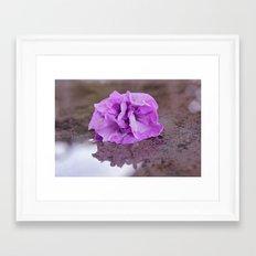 Flower reflection Framed Art Print
