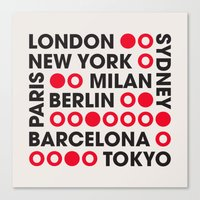 I Love This City Typography Canvas Print