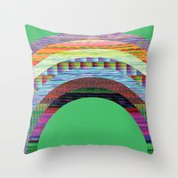 Glitchbow Throw Pillow