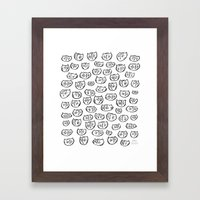 Fussy Cat Framed Art Print