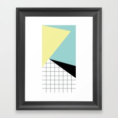 shapes and grid Framed Art Print