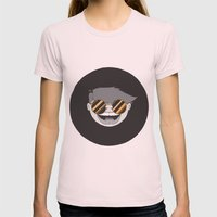 Golden Globes Womens Fitted Tee Light Pink SMALL