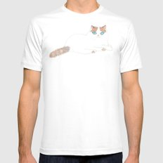 Ragdoll Cat Mens Fitted Tee SMALL White