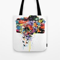 Paint DSLR Tote Bag