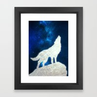 Space Wolf Framed Art Print