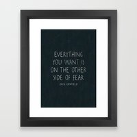 I. The Other Side Of Fea… Framed Art Print