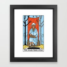 II-The High Priestess Framed Art Print