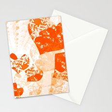 Heart - Orange Stationery Cards
