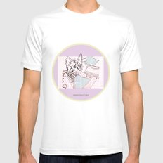 Dedicated Follower Of Fashion  White Mens Fitted Tee SMALL