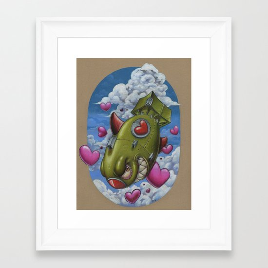 Love Bomb Framed Art Print