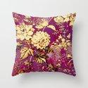 rich floral Throw Pillow