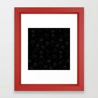 sacred seamless black Framed Art Print