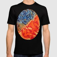 Just Gazing Black SMALL Mens Fitted Tee