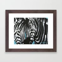 Eye of Contrast {Zebra Love} Framed Art Print