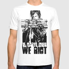 If Daryl Dies We Riot Mens Fitted Tee White SMALL